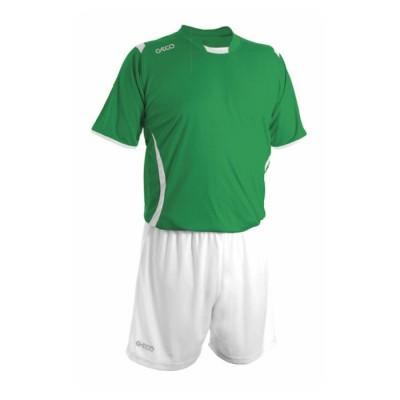 Echipament fotbal verde alb GECO