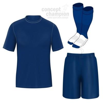 Set fotbal tricou, sort si jambiere Concept Champion