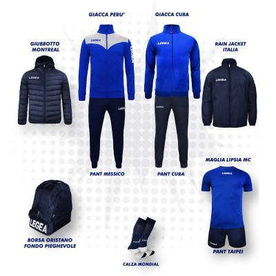 Set complet fotbal, Bomba New, Royal/Bleumarin, LEGEA