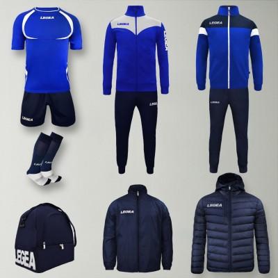 Set complet echipament fotbal Forza, Royal/Bleumarin, LEGEA